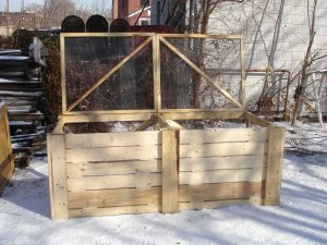 Double-Bin System, built for New Roots Urban Farm