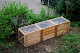Three Bin Cedar Compost System