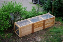 Triple-Bin Cedar Compost System, built for the Student Cooperative at Washington University